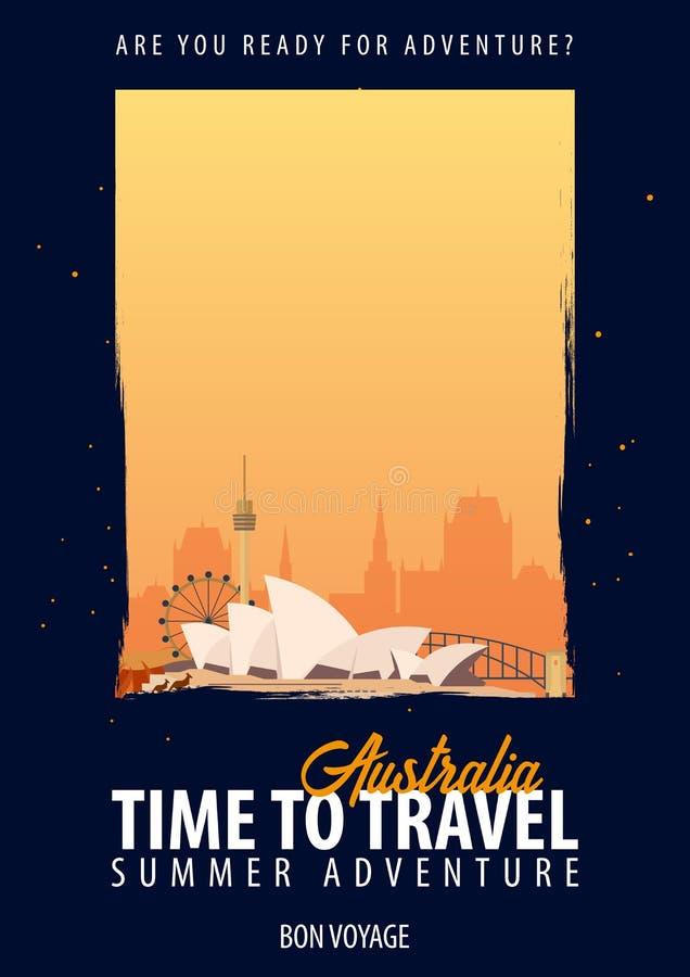 australites время переместить Путешествие, отключение, каникулы Ваше приключение Доброго пути иллюстрация вектора