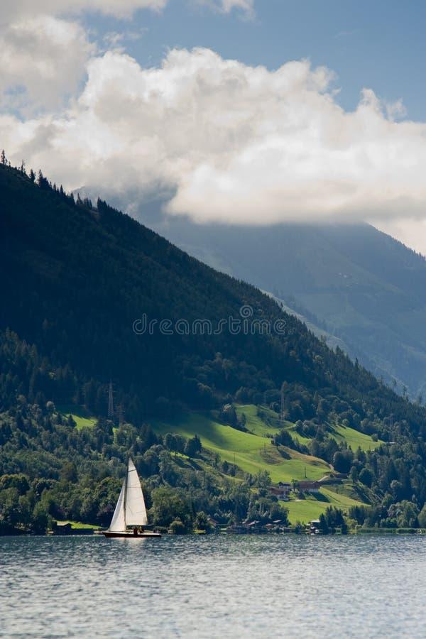 austria żaglówka widzii zell zdjęcie stock
