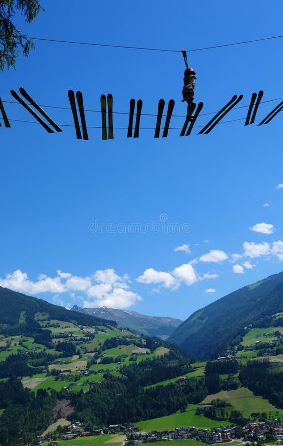 Austria: Adrenalin adventure-park in Zillertal valley. In Tirol royalty free stock photos