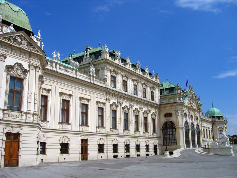 austria belvedere górnych Vienna pałacu. zdjęcie royalty free