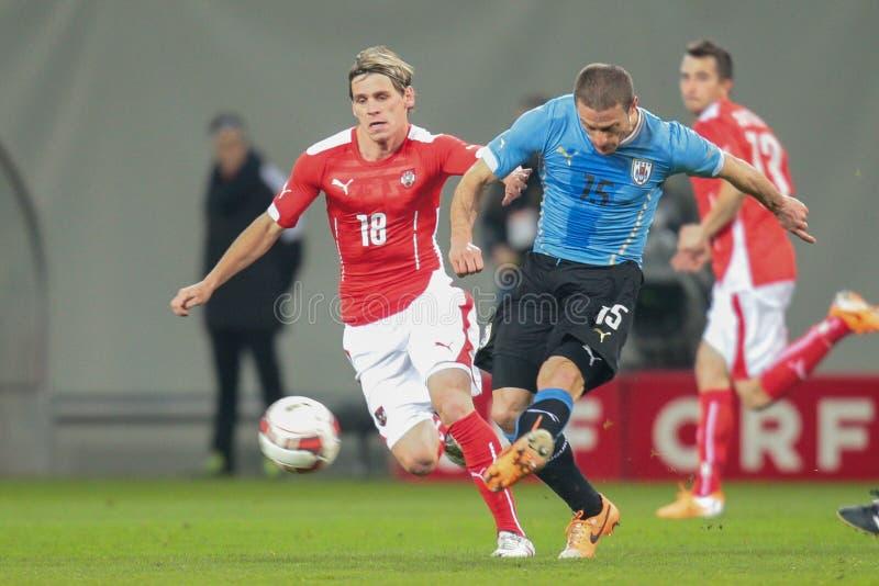 Austria contra Bélgica uruguay fotos de archivo libres de regalías