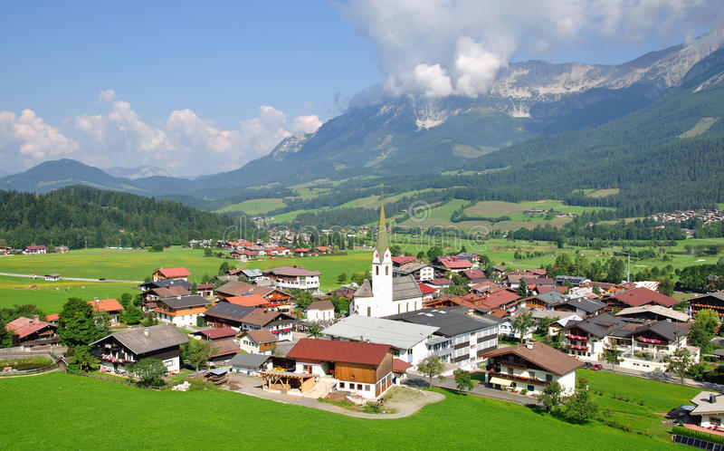 austria ellmau Tyrol fotografia stock