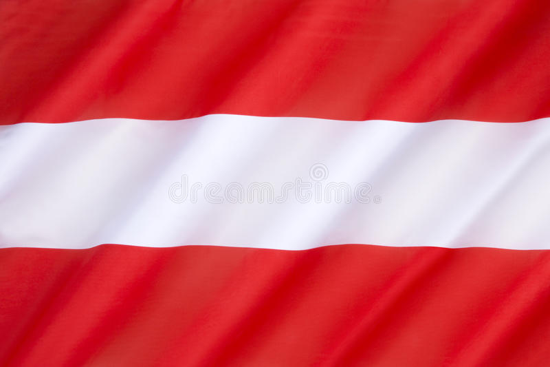austria flagę zdjęcie stock