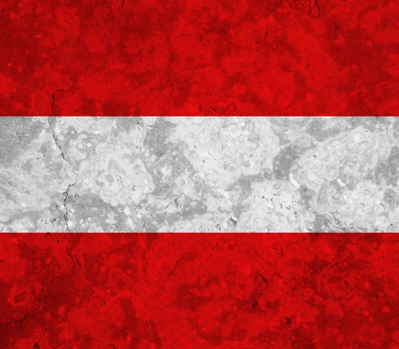Austria flag. On white background royalty free illustration