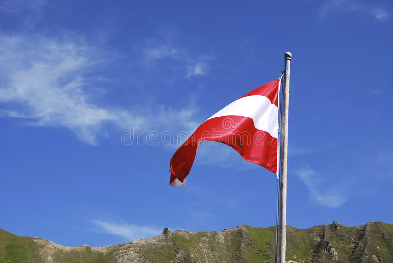 austria flaga fotografia stock