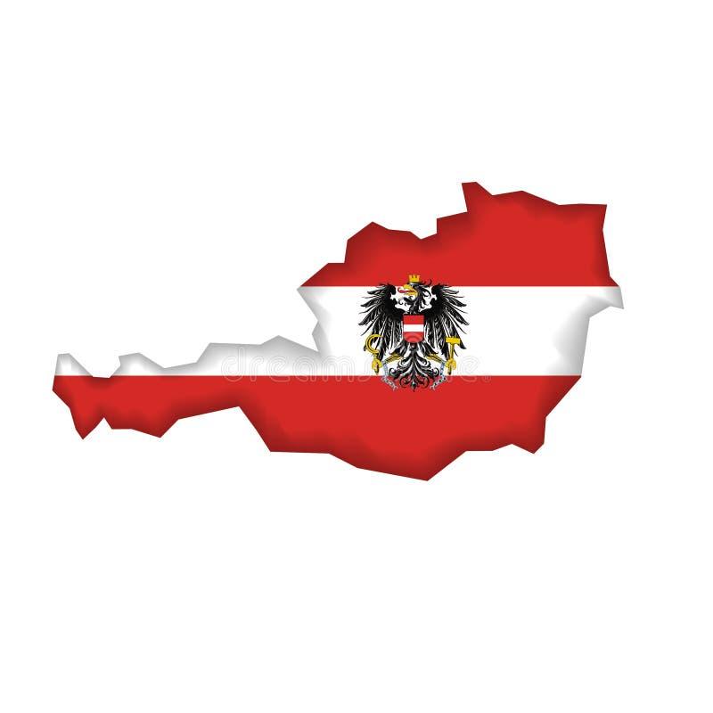 austria flagi wektora ilustracji