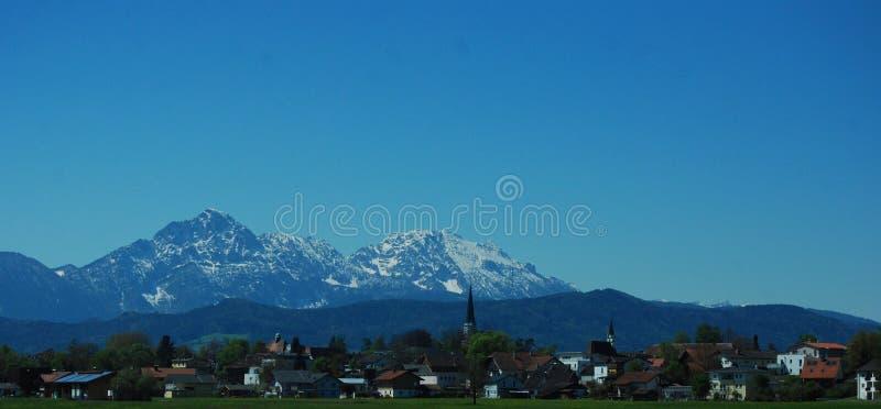 Austria, GÃ ³ ry Alpy, Rejon Salzburg obraz stock