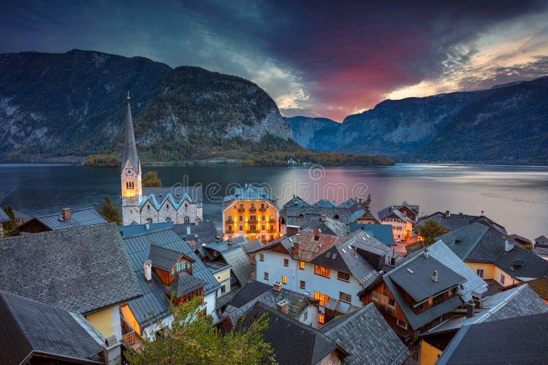austria hallstatt fotografia stock