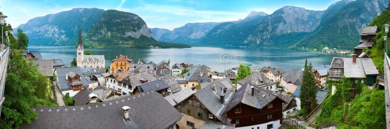 austria hallstatt widok fotografia stock