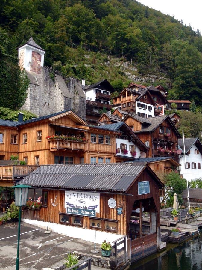 austria hallstatt wioska fotografia stock