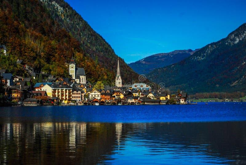Austria , Krajobraz. Hallstatt/ PiÄ™kne miasto w Austrii royalty free stock image