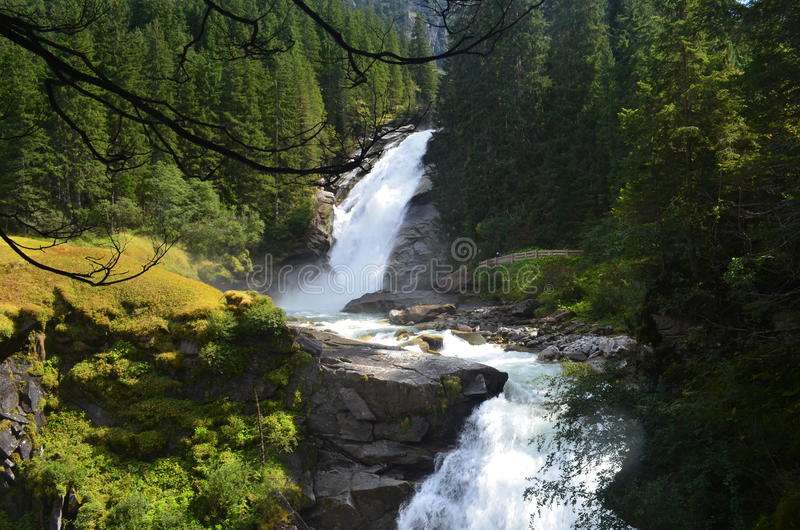 Austria Krimml spadki/Krimmler Wasserfälle obraz royalty free