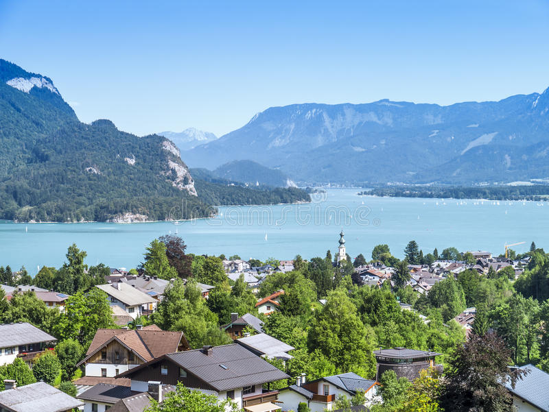 Austria Lake Wolfgangsee. An image of a beautiful lake Wolfgangsee in Austria royalty free stock images