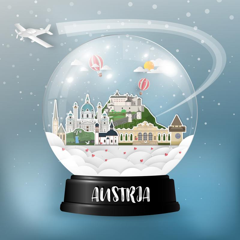 Free Austria Landmark Global Travel And Journey Paper Background. Vector Design Template.used For Your Advertisement, Book, Banner, Te Stock Photo - 122560660