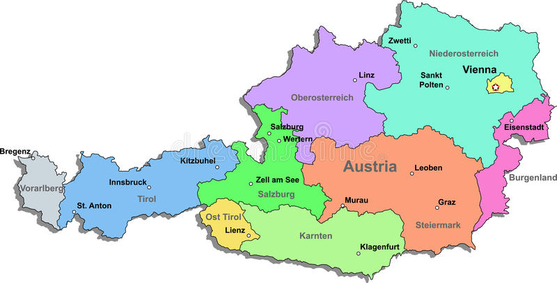 Austria map stock vector Illustration of background 13234977