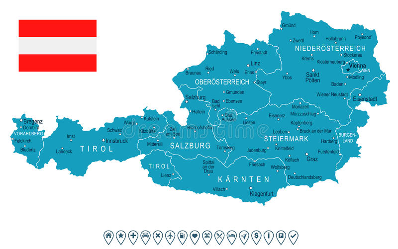 Austria map and flag illustration stock illustration download austria map and flag illustration stock illustration illustration of navigational austria gumiabroncs Gallery
