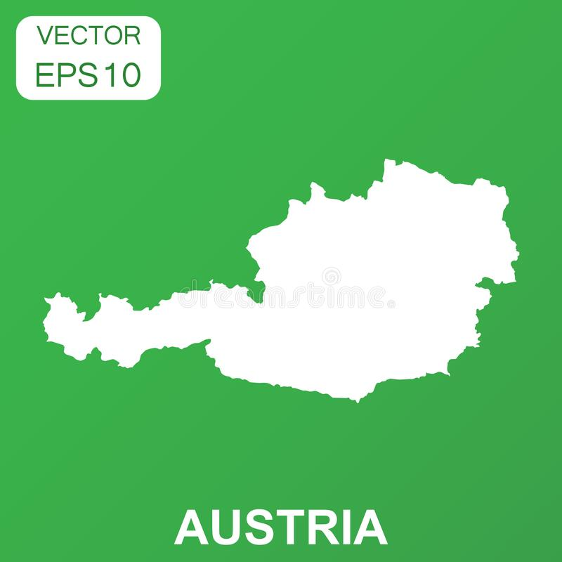 Austria map icon. Business concept Austria pictogram. Vector ill. Ustration on green background vector illustration