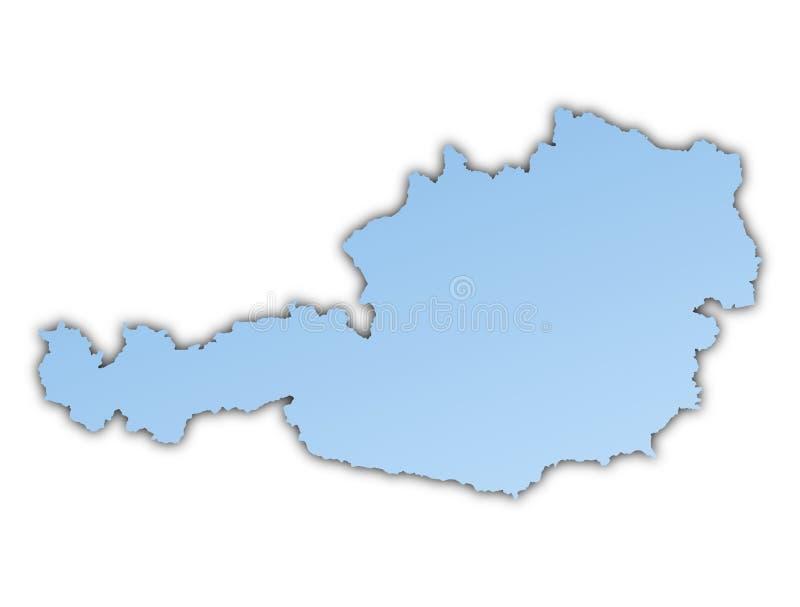 austria mapa ilustracja wektor