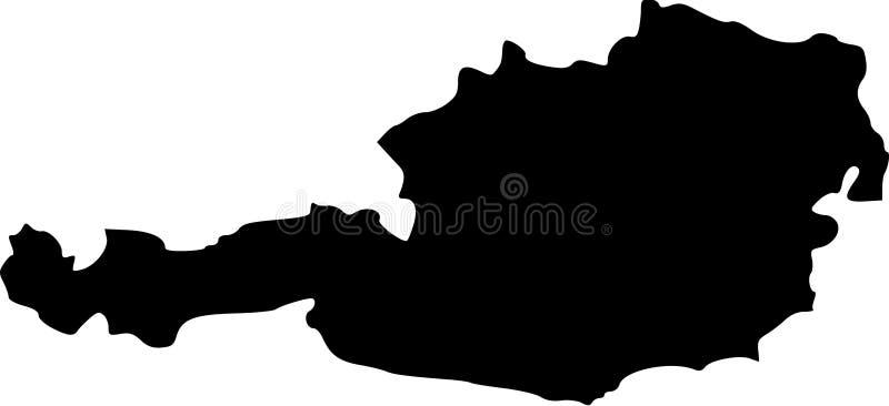 austria mapy wektor royalty ilustracja