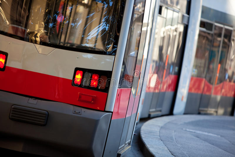 austria modean tramwajowy Vienna zdjęcia royalty free
