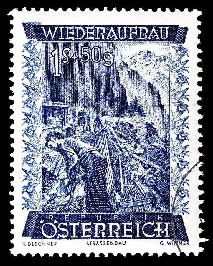 Austria na znaczku pocztowym zdjęcia stock