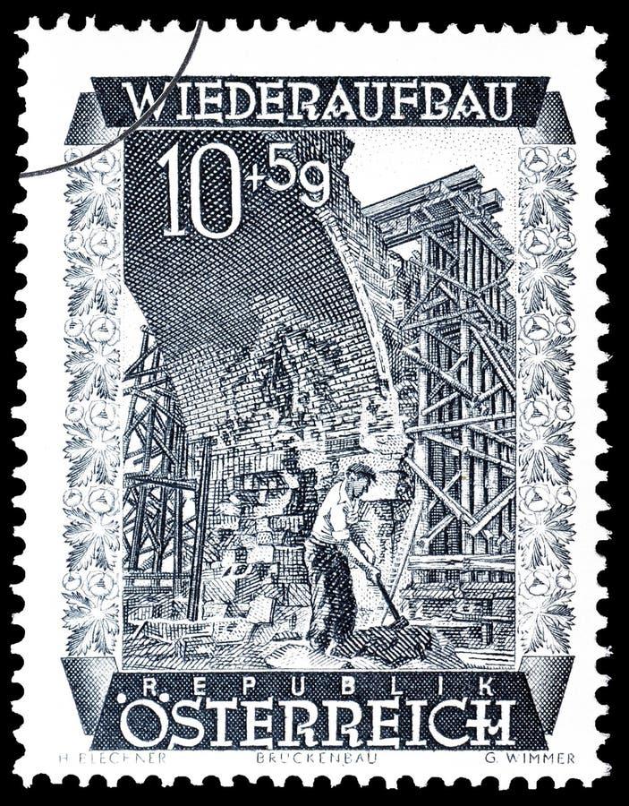 Austria na znaczku pocztowym fotografia stock