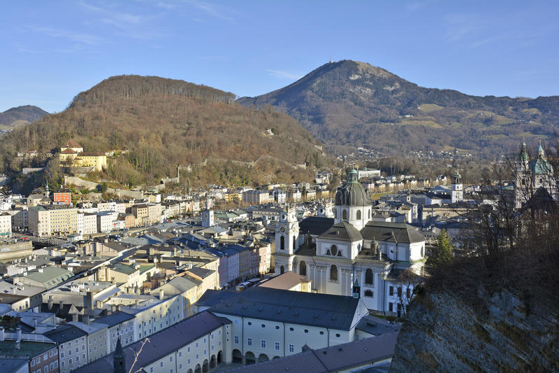 Austria_Salzburg. Austria, city scape of Salzburg royalty free stock photo