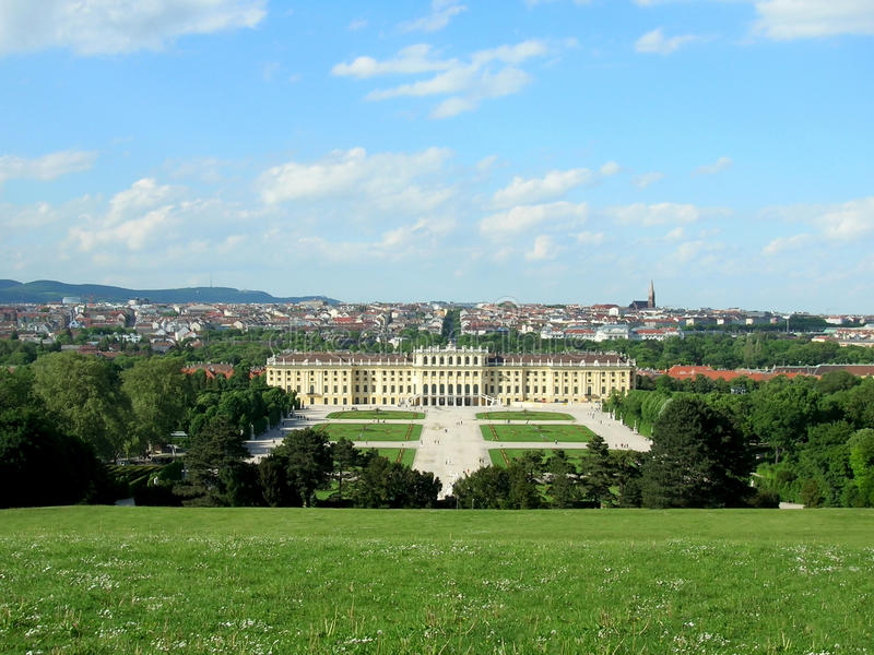 Austria schonbrunn Vienna pałacu fotografia stock