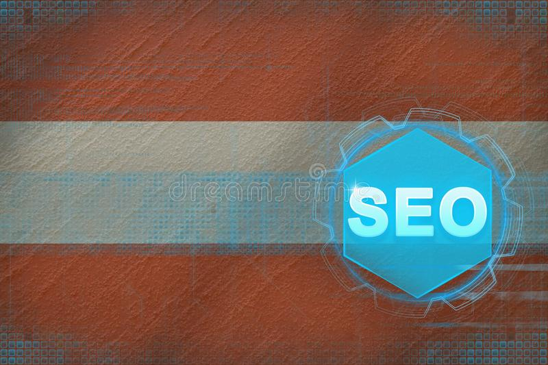 Austria seo (search engine optimization). SEO concept. royalty free illustration