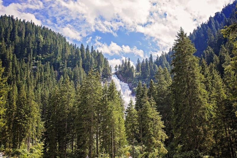 austria spadek wysoka krimmler siklawa obraz stock
