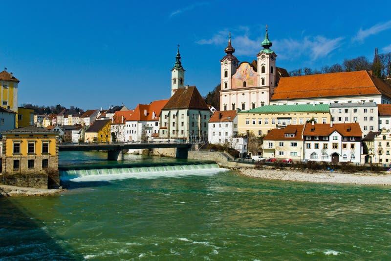austria stary steyr miasteczko obrazy stock