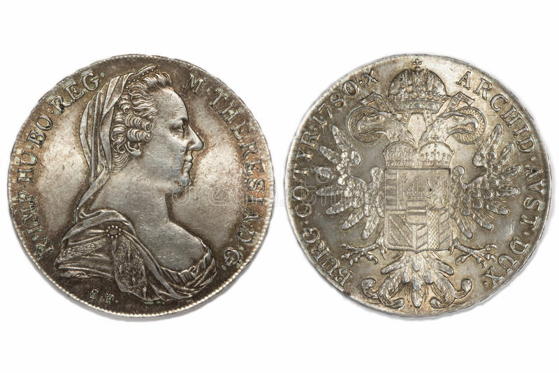 Austria thaler 1780 stock photography