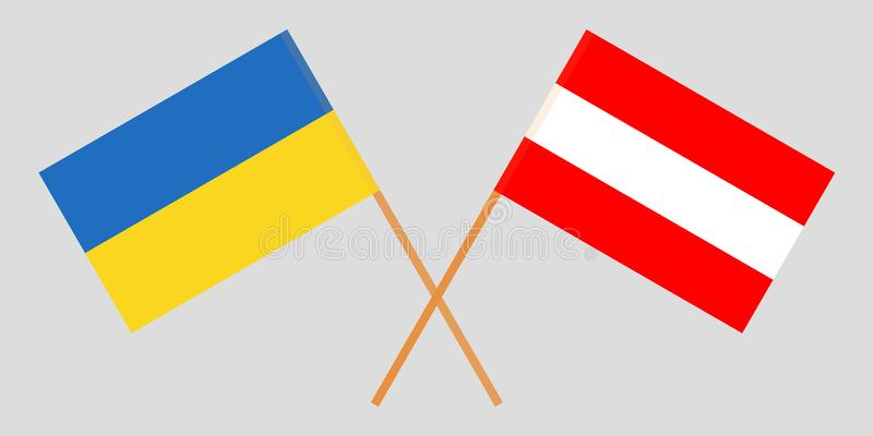 Austria And Ukraine. The Austrian And Ukrainian Flags. Official Colors. Correct Proportion. Vector Stock Vector - Illustration of flagstaff, nation: 133721217