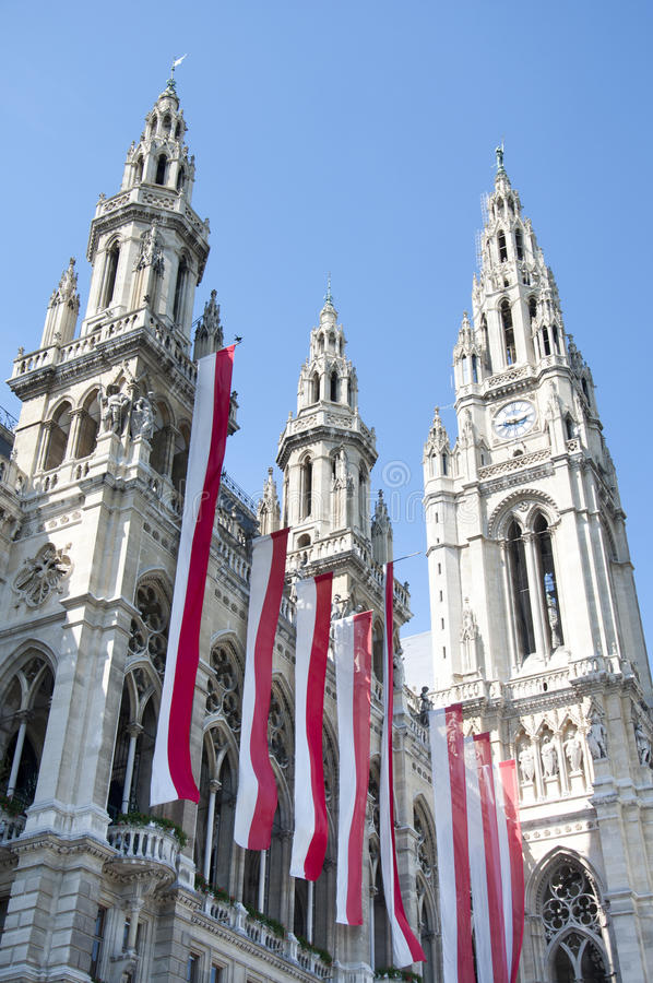 austria urząd miasta Vienna obraz stock