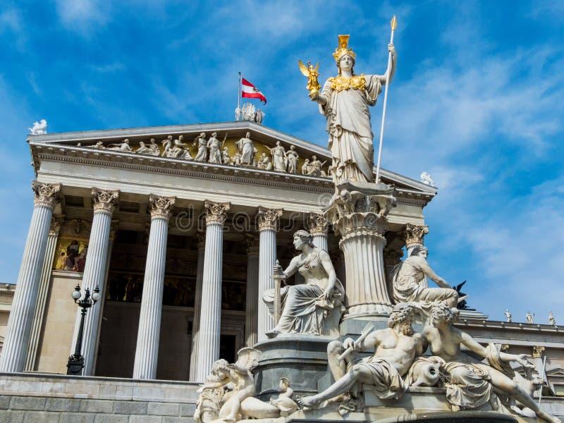 Austria, Viena, el parlamento foto de archivo libre de regalías