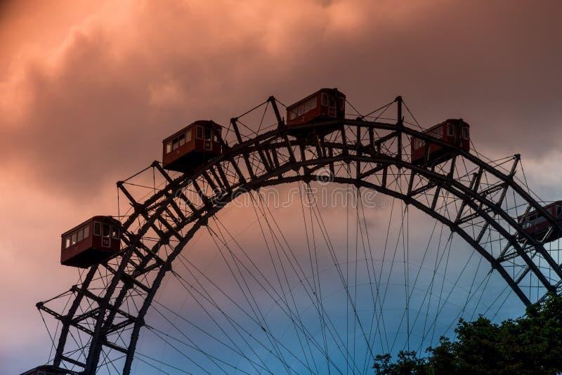 Austria, Viena, rueda de Ferris foto de archivo