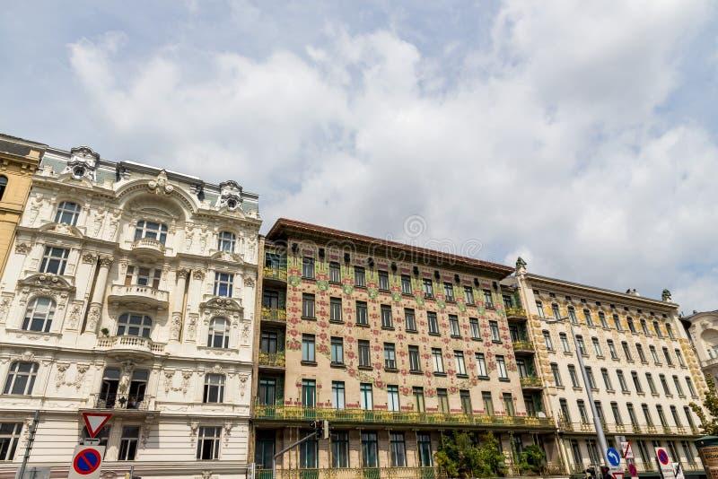 Austria, Viena, wien casas de fila imagen de archivo
