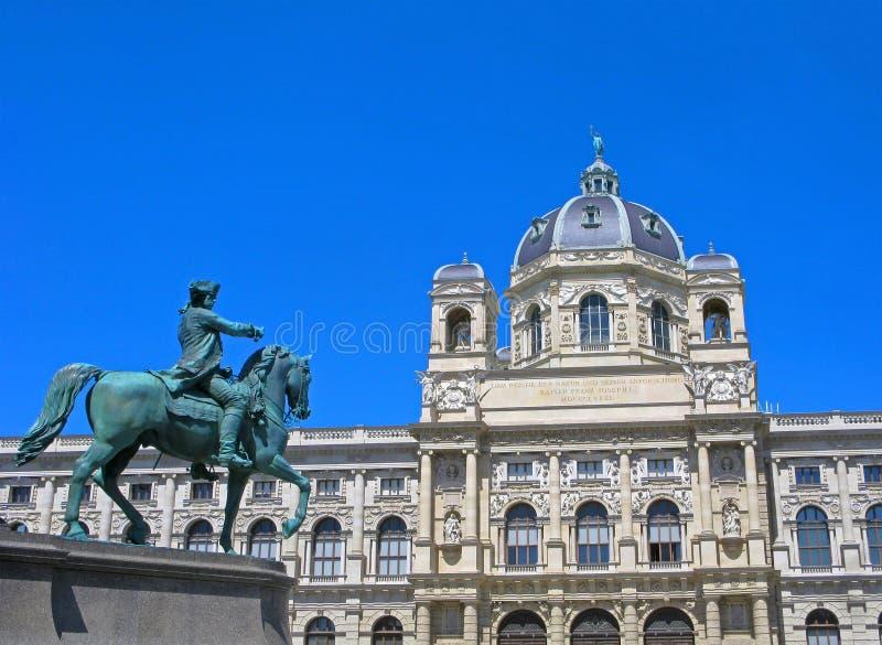 austria Vienna Historia Naturalna jeździec i muzeum zdjęcia stock