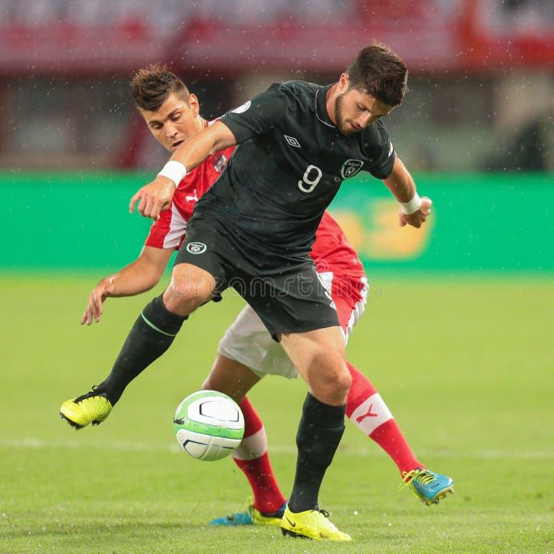 austria vs Belgium Irlandia obrazy stock