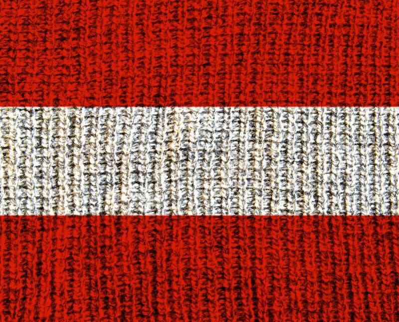 Austria Wool Textured Flag stock photo