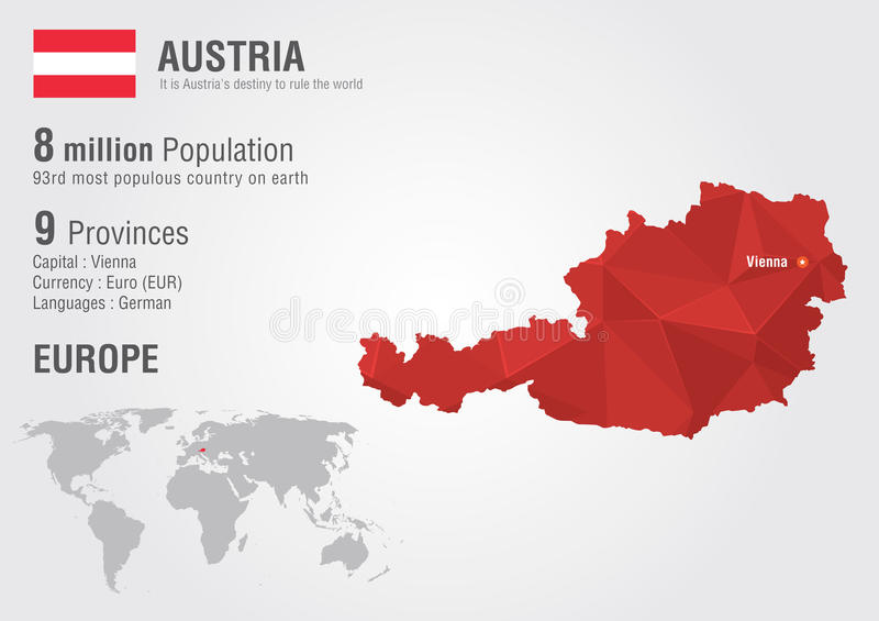 Austria world map with a pixel diamond texture stock vector download austria world map with a pixel diamond texture stock vector illustration of austria gumiabroncs Images