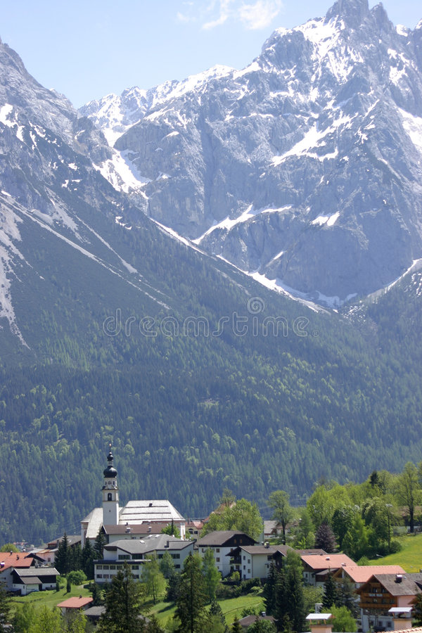 Austria Wysokogórski Kościoła Fotografia Stock