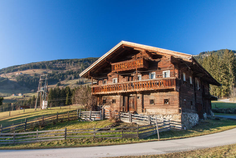Austriaccy Alps blisko Kitzbuehel fotografia royalty free