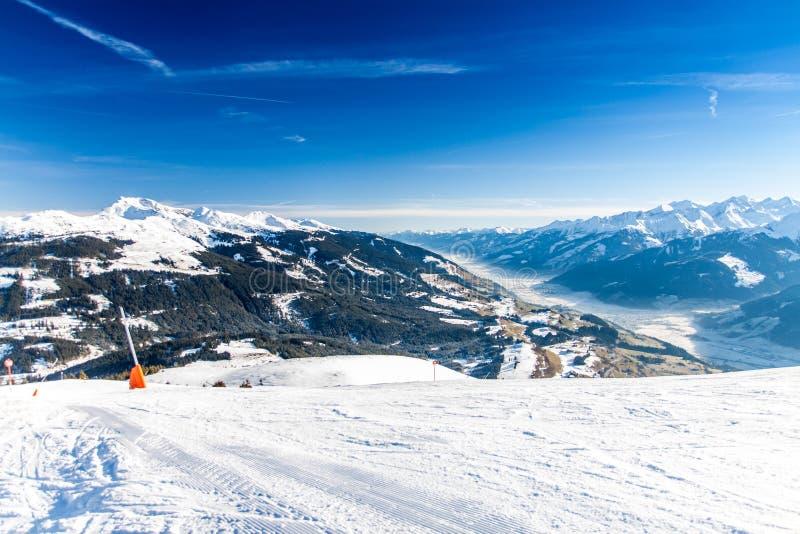 Austriaccy Alps blisko Kitzbuehel zdjęcia royalty free