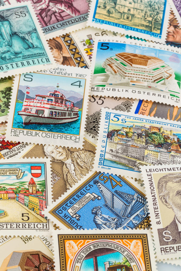 Austriaccy znaczki obrazy royalty free