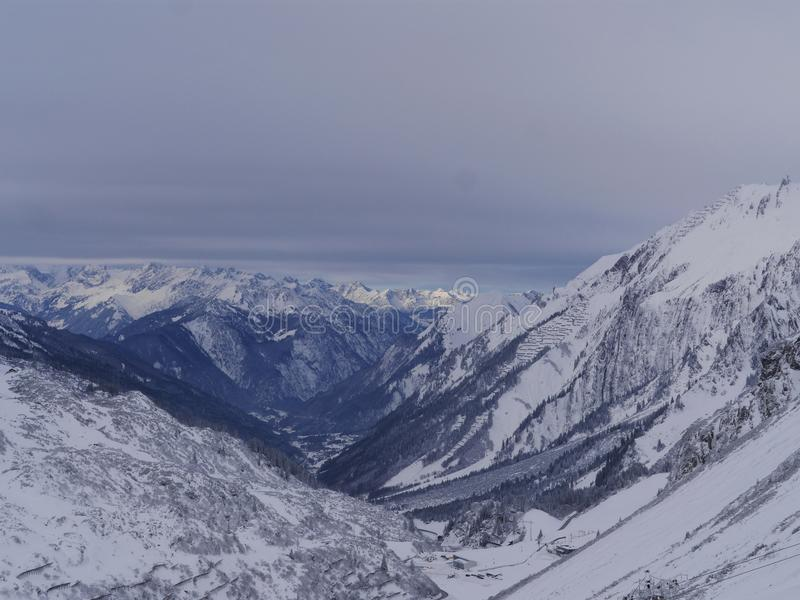 Austriacka Alps śniegu zima obraz stock