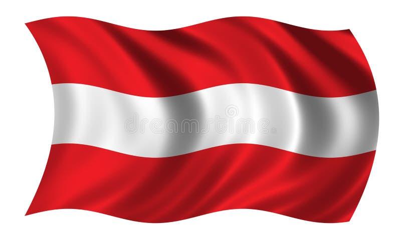 austriacka flagę ilustracja wektor