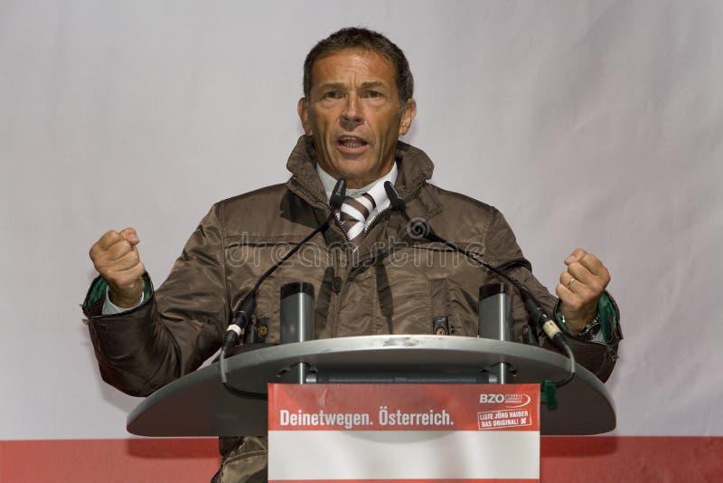 austriacki haider Joerg polityk obraz stock