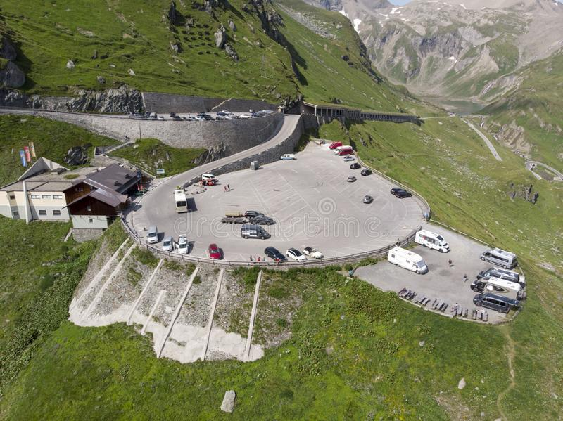Austriacki parking samochodowy obraz stock