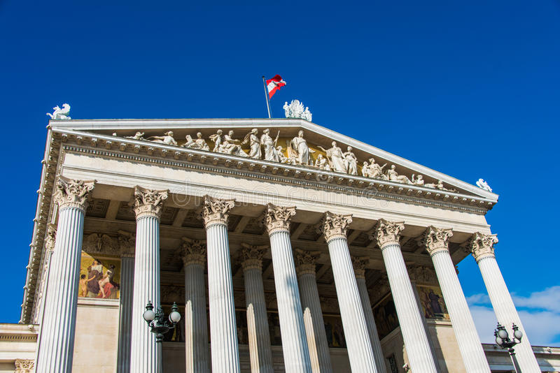 Austriacki parlament na Październiku 13 w Wiedeń zdjęcie royalty free